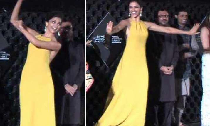 deepika padukone grooved the audience at marrakech intl