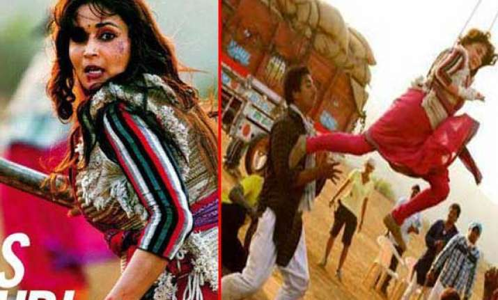 madhuri dixit s first look in gulab gang out view pics
