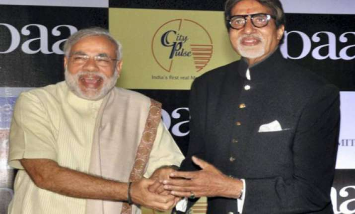 modi thanks big b for taking gujarat on world tourism map