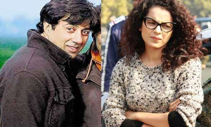 odd pair sunny deol kangana ranaut s movie hit the screens