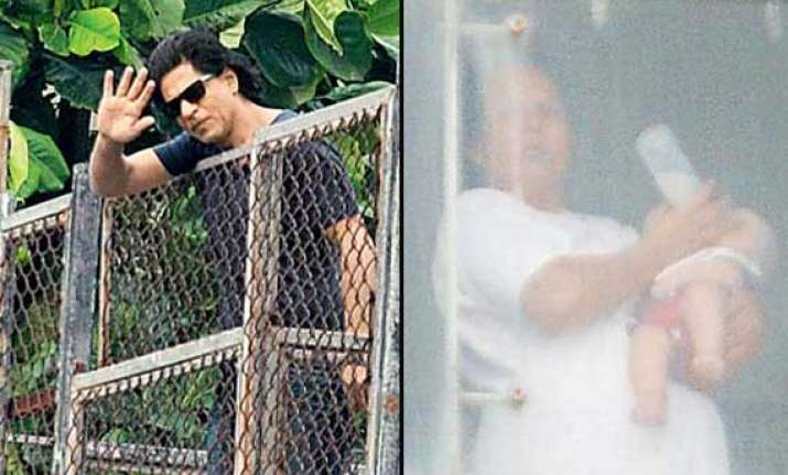 shah rukh khan s son abram s first picture out view pics