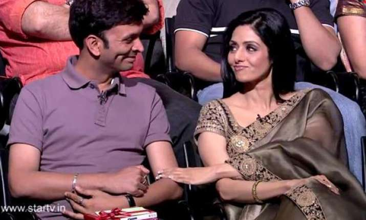 sridevi cheers up sexual abuse victim on aamir s show