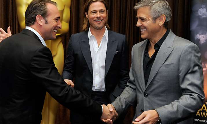 clooney pitt other pals gather for oscar lunch