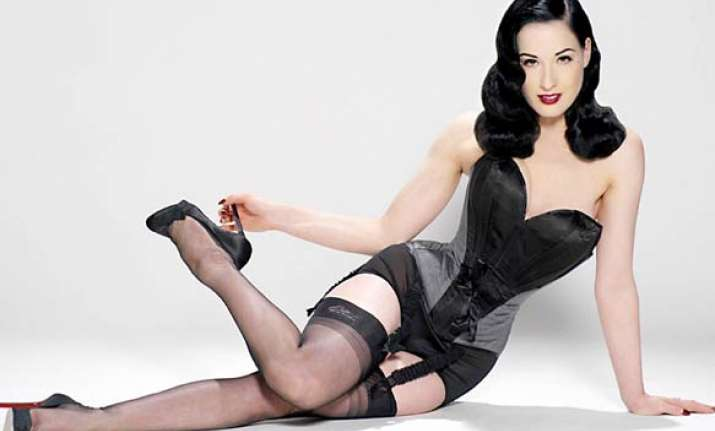 dita von teese s offensive cleavage censored in csi episode