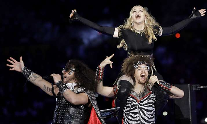 l.m.f.a.o rocks the super bowl with madonna