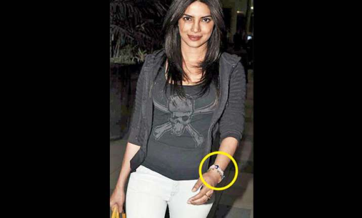 priyanka wears a turkish bracelet to ward off evil eye