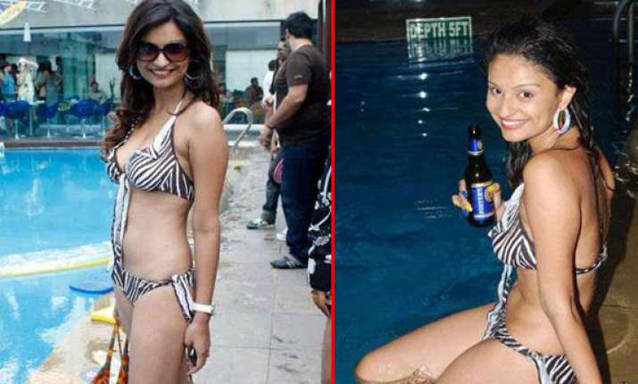 rahul mahajan s wife dimpy sizzles in a hot bikni
