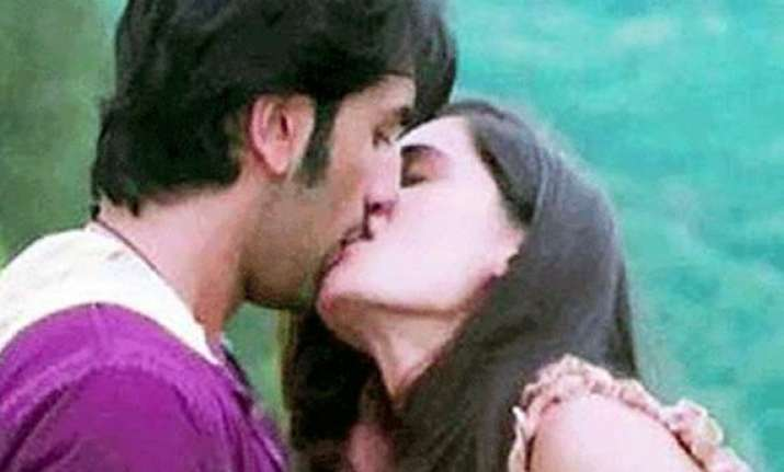 ranbir s steamy kiss with nargis goes viral on the net