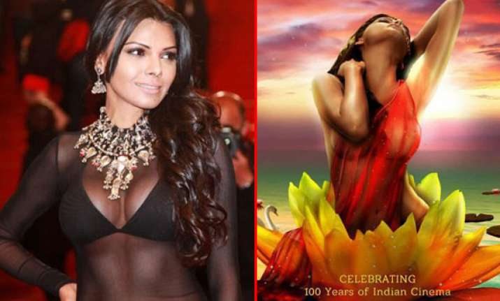 sherlyn chopra unveils new poster of kamasutra 3d at cannes