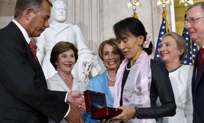 aung san suu kyi gets us congress highest honor