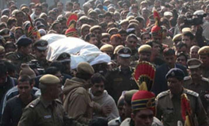 gangrape protests questions over cause of constable tomar s