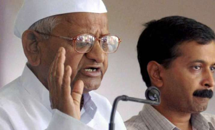 hazare backs kejriwal over remarks against mps