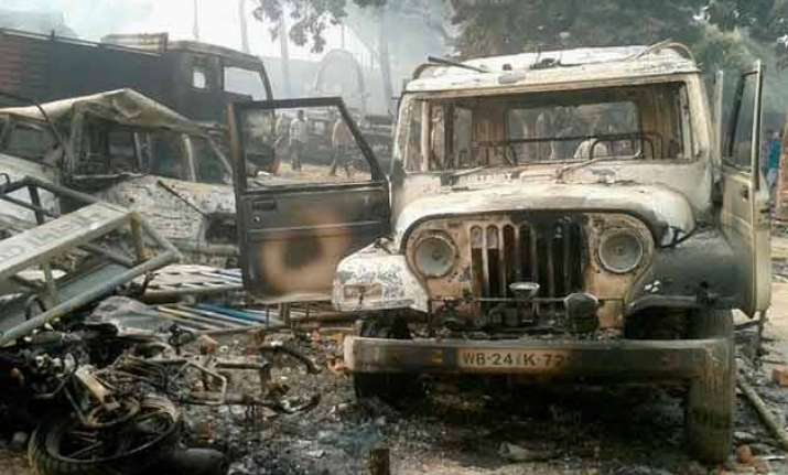 malda protest turns violent mob attacks police station sets