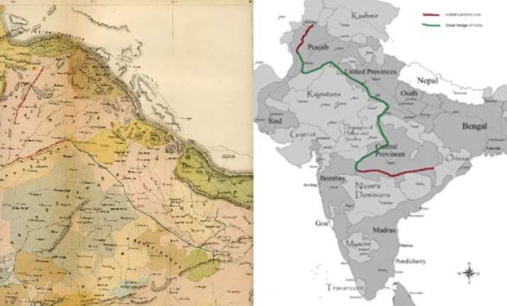 the great hedge of india wall that divided india