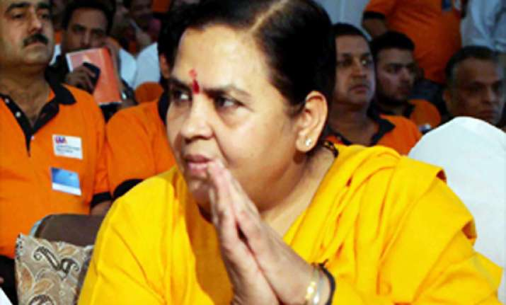 uma bharti takes full responsibility for bjp turnout in up