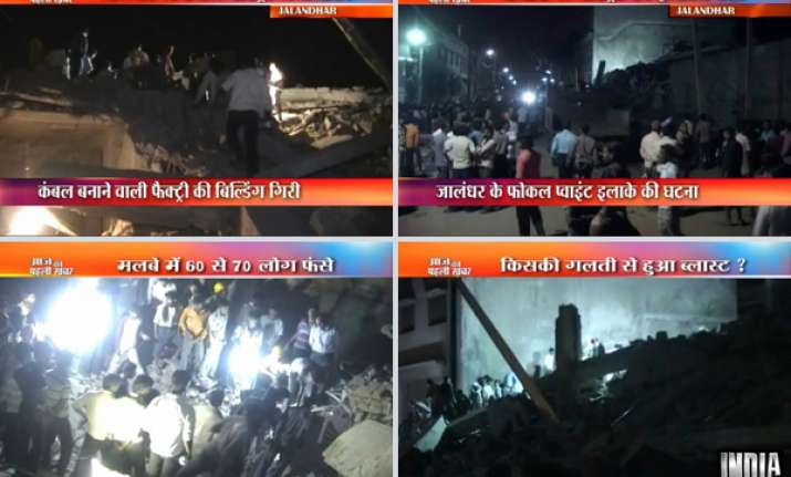 jalandhar factory collapse toll eight owner arrested