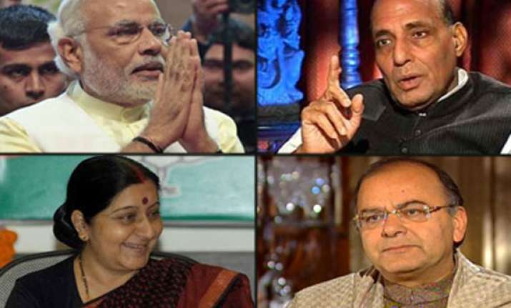 small and compact cabinet to take oath with modi on may 26