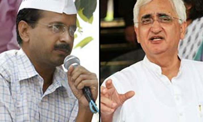 kejriwal s demand for khurshid s resignation rejected by