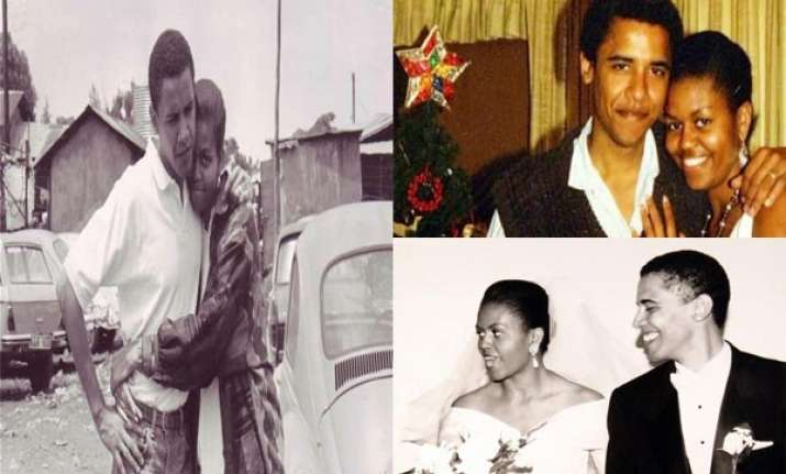 rare pictures of barack obama michelle obama and family