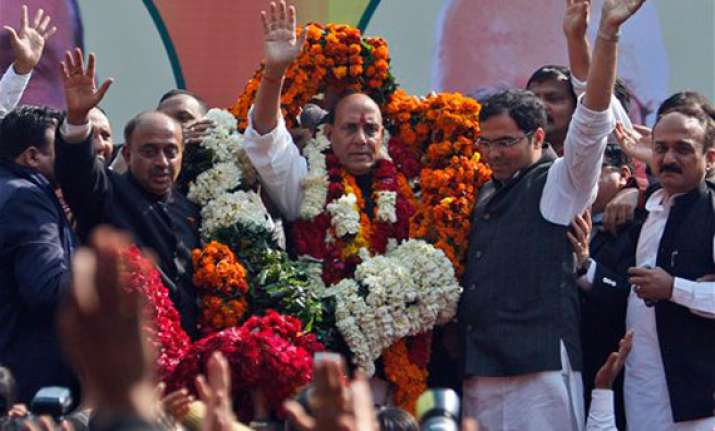 rajnath singh elected bjp president vows to bring back