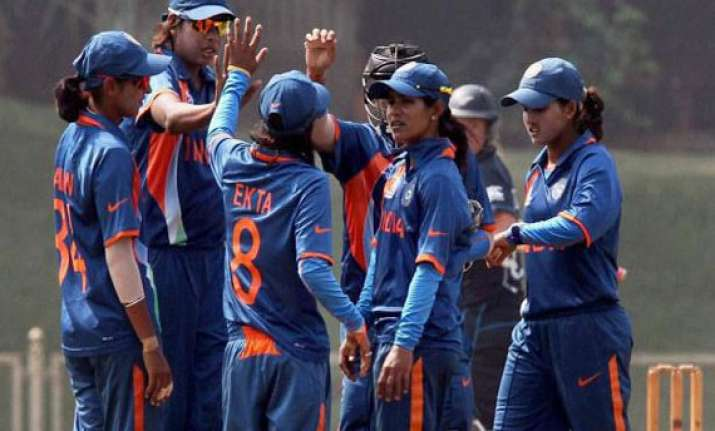 icc women s world cup india start campaign with convincing