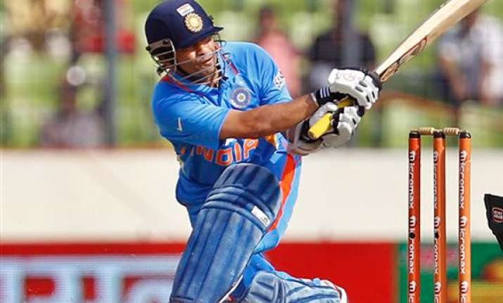 tendulkar s record ton goes in vain bangladesh upset india