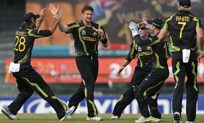 all round show by watson as aus beat ireland by 7 wkts