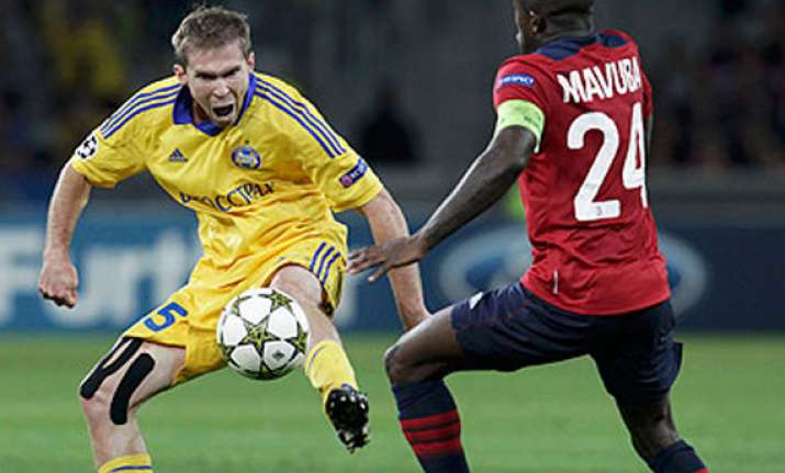 bate borisov beats lille 3 1 in champions league