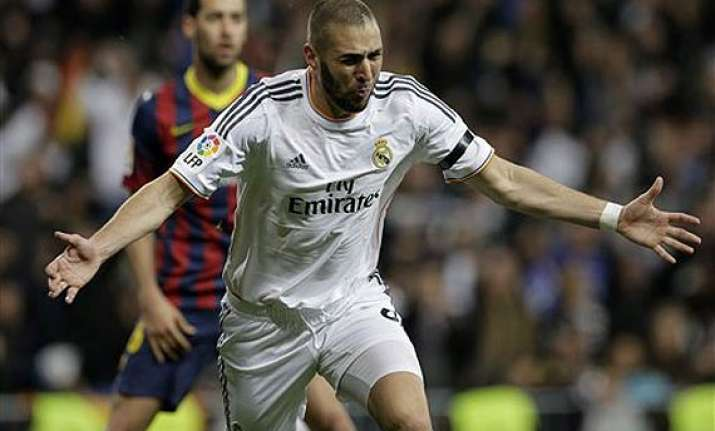 karim benzema the real madrid striker on a different pitch.