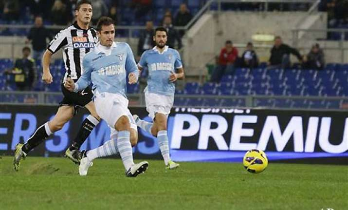 lazio beats udinese 3 0 in italian league