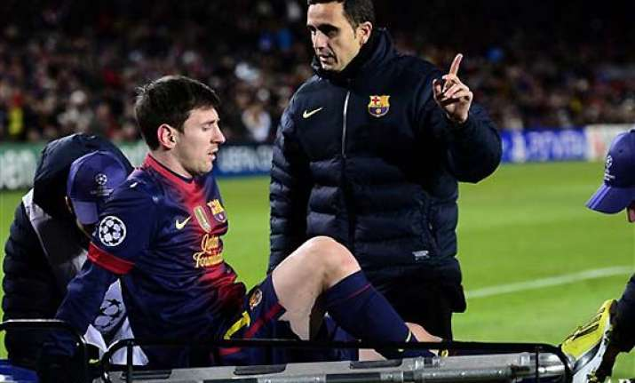 lionel messi hurt benfica draw with barcelona 0 0