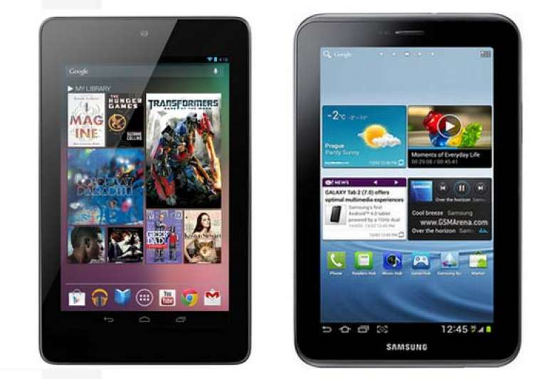 a comparison google nexus 7 vs samsung galaxy tab 2 p3100- India Tv