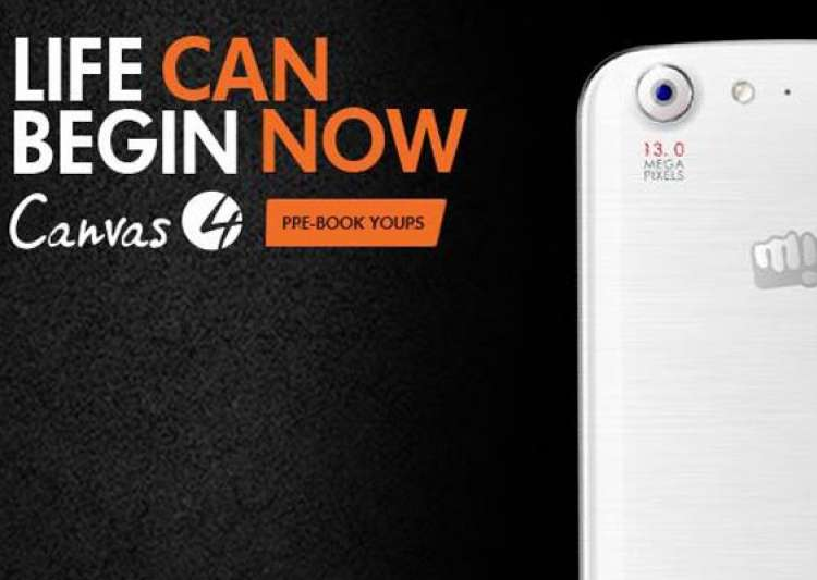 micromax canvas 4 pre booking begins in india- India Tv