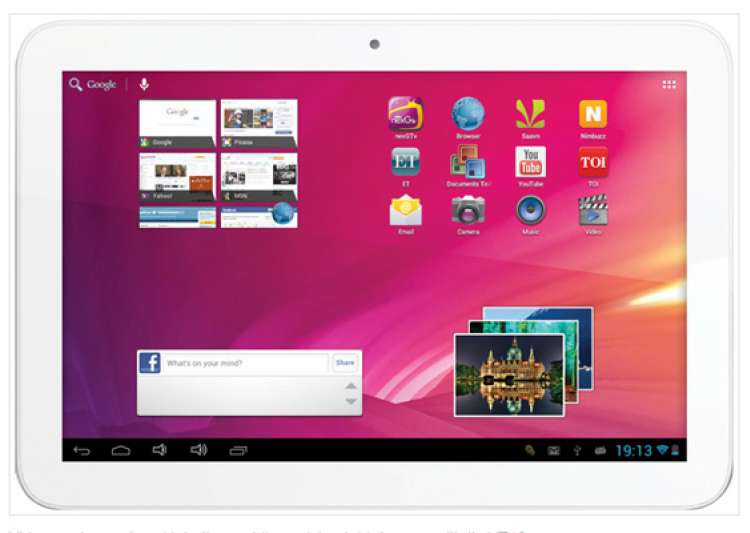videocon launches 10 inch vt10 tablet with android 4.1 for rs 10 999- India Tv