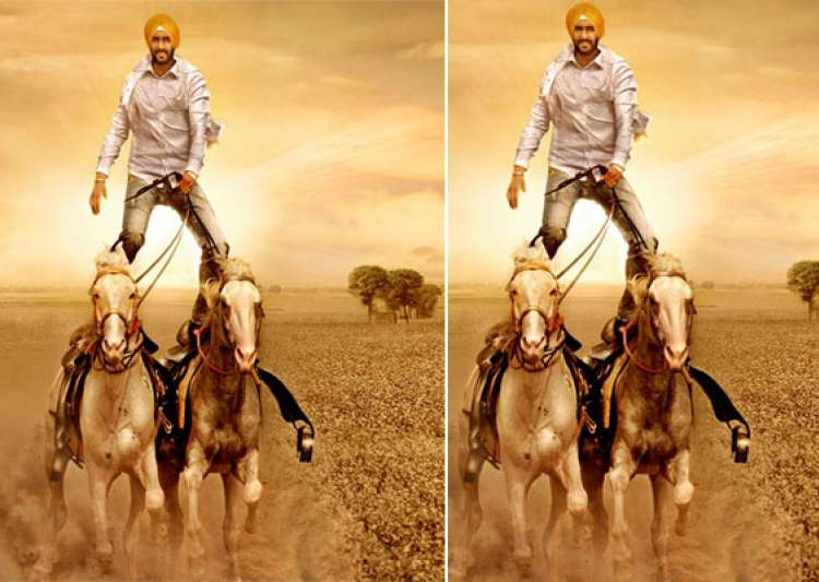 ajay devgn performs two horse stunt for son of sardar- India Tv