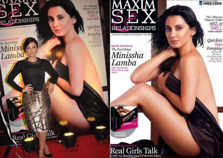 minisha lamba goes nude for maxim cover- India Tv