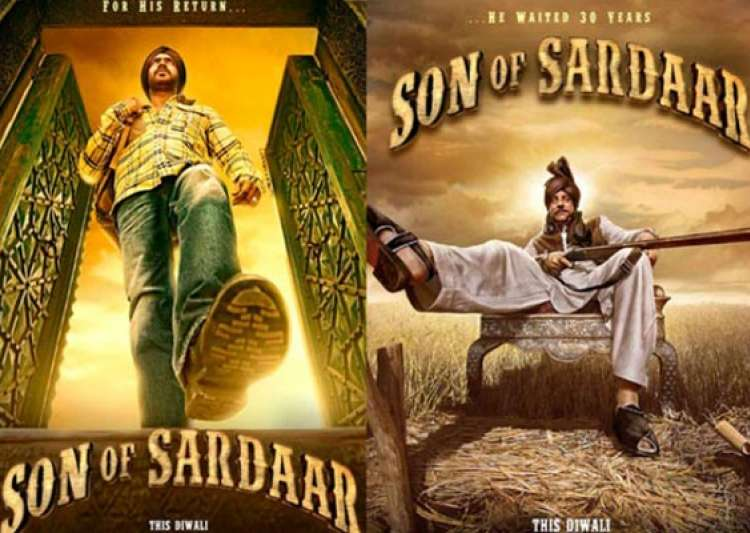 movie review son of sardar jokes fall flat may cause- India Tv