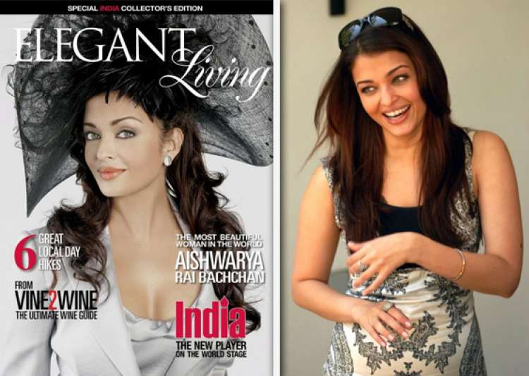 post pregnancy aishwarya appears on cover of elegant living- India Tv