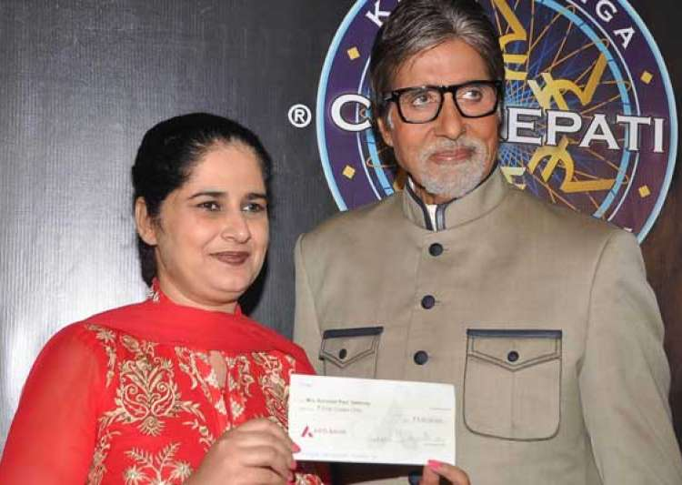 kbc 6 gets it rs.5 cr winner big b admires sunmeet kaur- India Tv