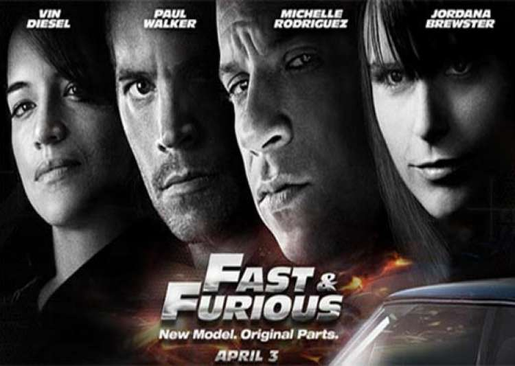... Fast and Furious 7 . The poster is promoting the film's new release