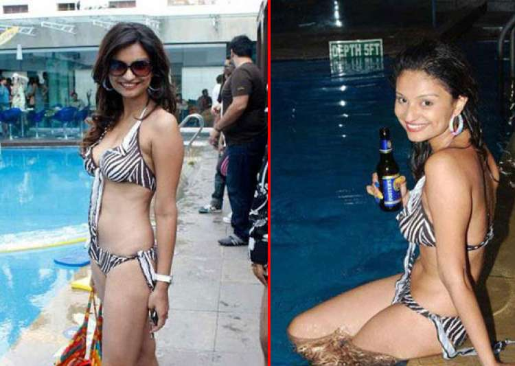 rahul mahajan s wife dimpy sizzles in a hot bikni- India Tv