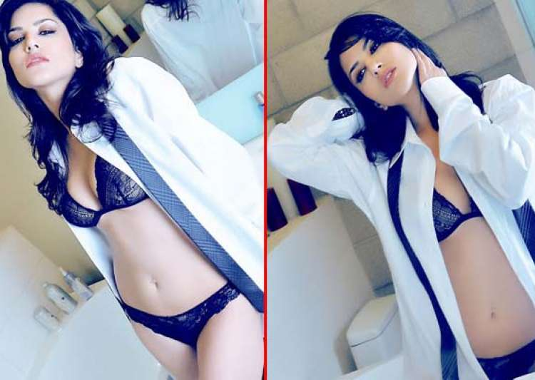 sunny leone sizzles in a bathroom photoshoot- India Tv
