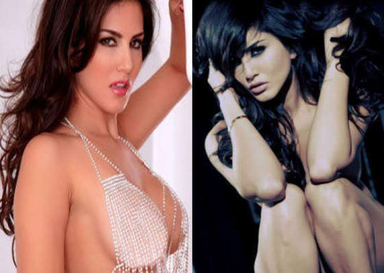 sunny leone uploads her semi nude pics on website- India Tv