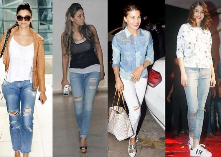 Bollywood actresses flaunt skin show in ripped jeans - IndiaTV News