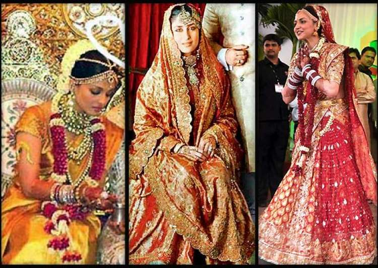 Bollywood beauties 39 real life bridal avatars view pics for Aishwarya rai in her wedding dress
