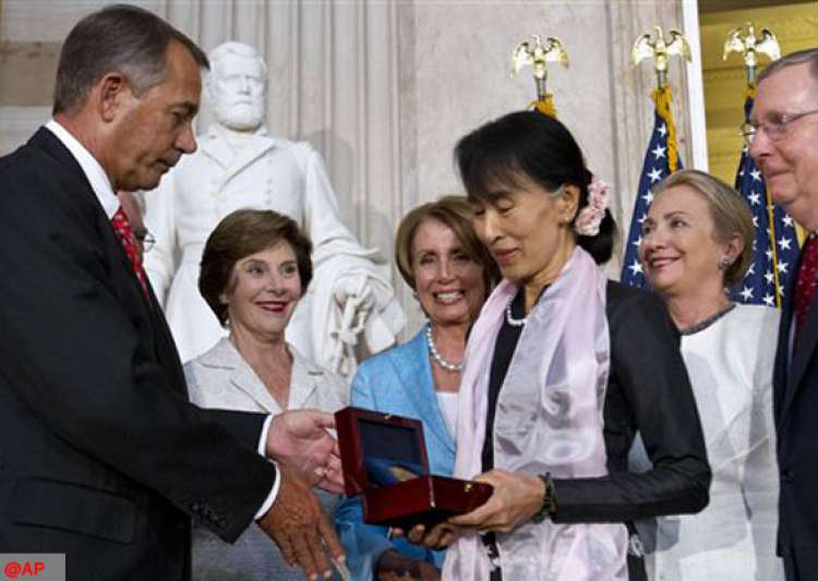 aung san suu kyi gets us congress highest honor- India Tv