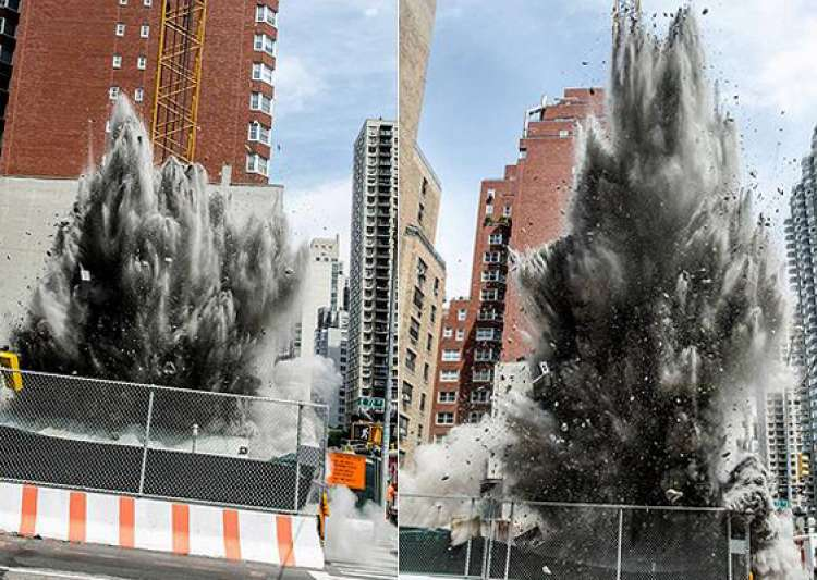 underground dynamite blast in new york spews concrete as high as 8 stories- India Tv