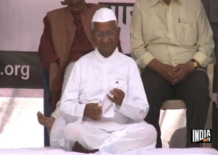 anna concludes fast attacks govt over jan lokpal bill- India Tv