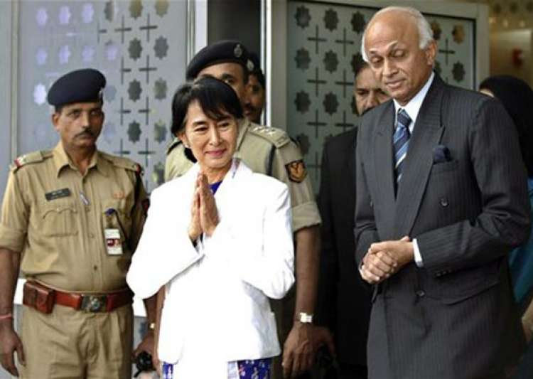 aung san suu kyi comes to india after 40 years