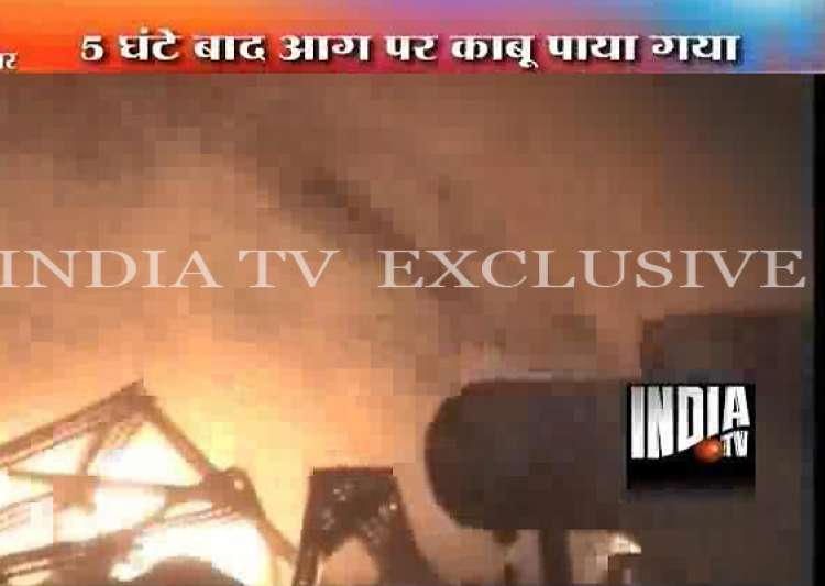 chemical factory in noida gutted in fire- India Tv
